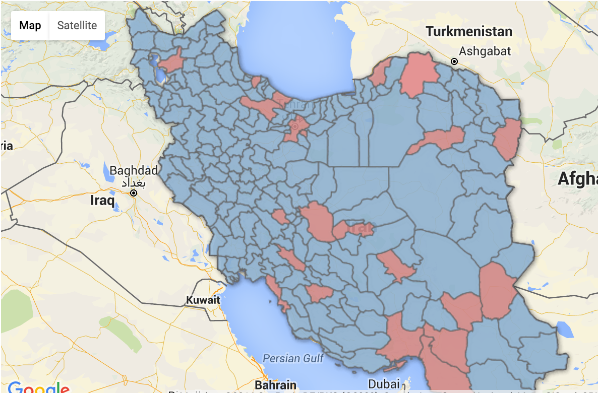 Where the Unfair Distribution of Majles Seats Disadvantaged the Hope List